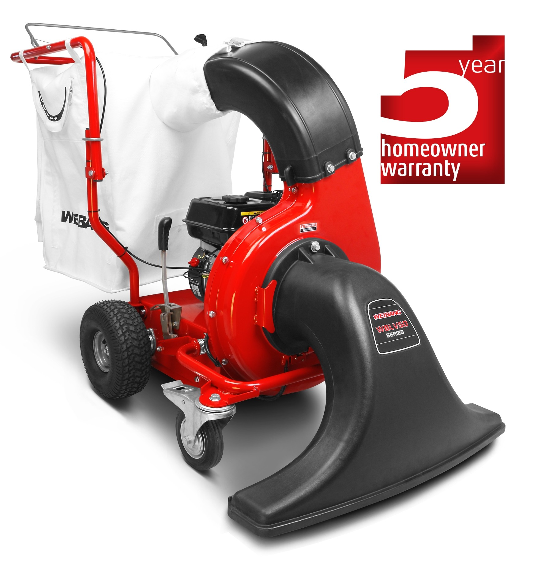 Weibang LV800 leaf and litter vacuum
