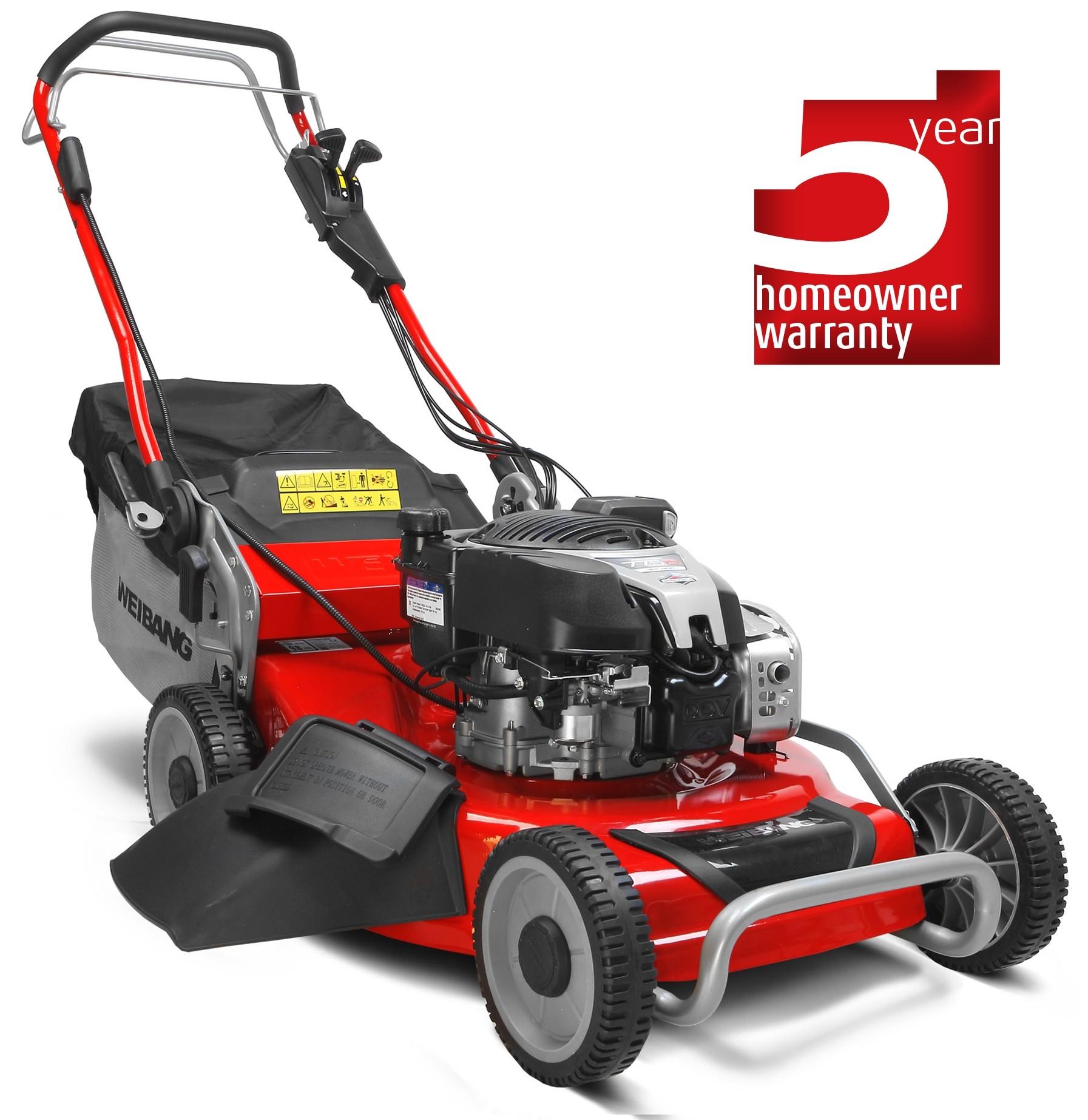 Virtue 53 SVE 3 in 1 electric start petrol lawn mower