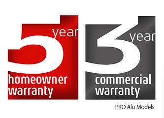 3 to 5 year warranty